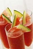 Three melon drinks