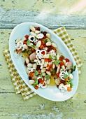 Bean salad with calamares