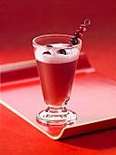 Cranberry-raspberry cordial