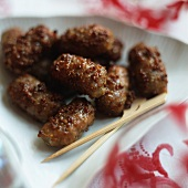 Cevapcici with skewers