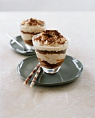 Chocolate and vanilla trifle