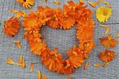 A heart of marigolds