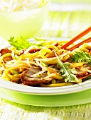 Pork with egg noodles (Asia)