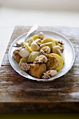 Baby squid with artichoke hearts