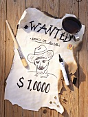 A Western-style 'Wanted' poster for a party