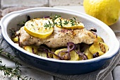 Oven-baked chicken breast fillet