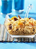 Pulao (Indian rice) with fruit and nuts