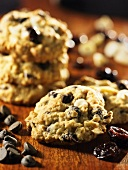 Chocolate chip cookies with cherries