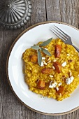 Pumpkin risotto with pine nuts and sage
