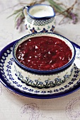 A bowl of plum jam