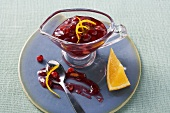Cranberry and almond sauce