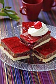 Cherry cake with red jelly