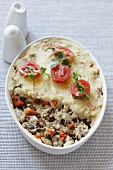 Minced meat and vegetable bake