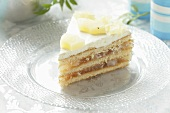 A slice of pineapple layer cake