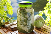 Pickled white cabbage with dill