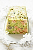 Salmon and scallop terrine