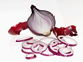 Red onion, halved and sliced