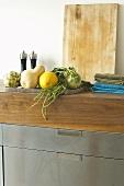Fresh vegetables on sideboard