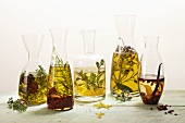 Various types of herb oil