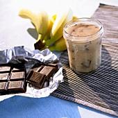 Banana and chocolate spread