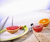 Cold-stirred strawberry and orange jam