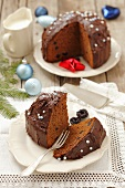 Ginger chocolate cake for Christmas