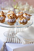 Profiteroles with caviar cream (tarama)