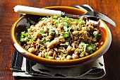 Pilau rice with chickpeas and fresh herbs