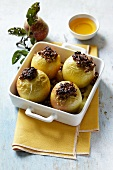 Stuffed apples with black pudding