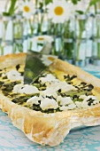 Asparagus and ricotta quiche