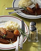 Braised shoulder of beef with potato snow