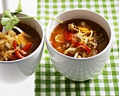 Cabbage soup with lamb