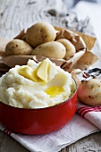 Mashed potato with knobs of butter