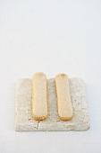 Two sponge fingers