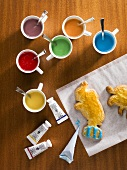 Biscuits and food colourings