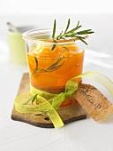 Apricot compote with vanilla