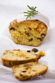 Savoury loaf with olives, dried tomatoes and rosemary
