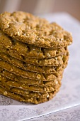 Oat biscuits, stacked