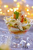 Egg, potato and pepper salad with Parmesan