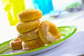 Oponki (Dougnuts made with flour and soft cheese, Poland)