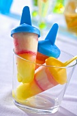 Home-made ice lollies