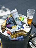 Ein gefüllter Mülleimer