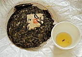 Pressed Ba Da Chun tea from China
