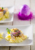 Herring with apple and red onion for Easter