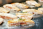 Seared salmon fillets