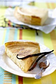 Milk tart (South African speciality) with cinnamon sugar