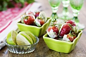 Strawberries with lime sugar