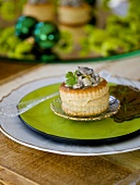 Vol-au-vent with herring salad filling
