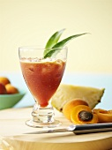 Pineapple and apricot drink