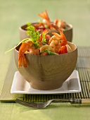 Sweet and sour prawns with water chestnuts